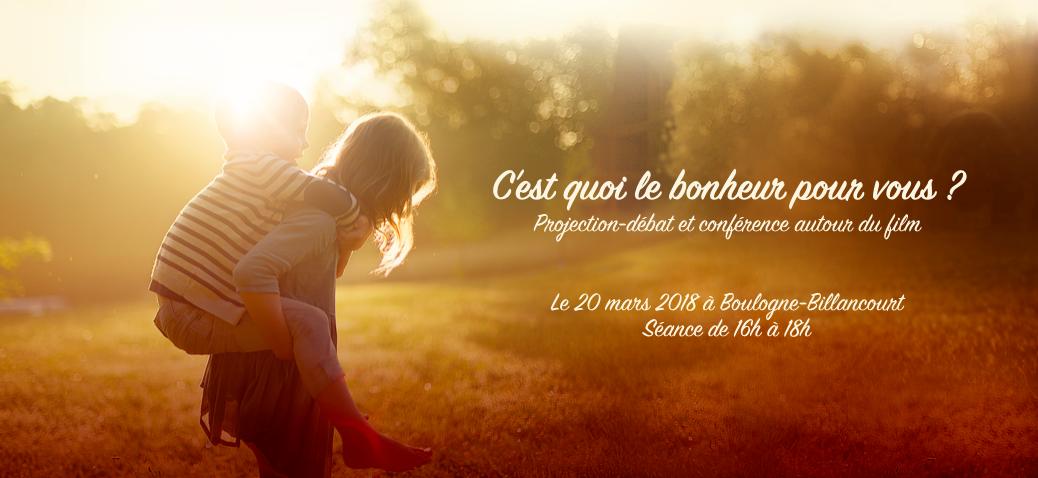 """Rencontres autour du documentaire  """"Le bonheu"""