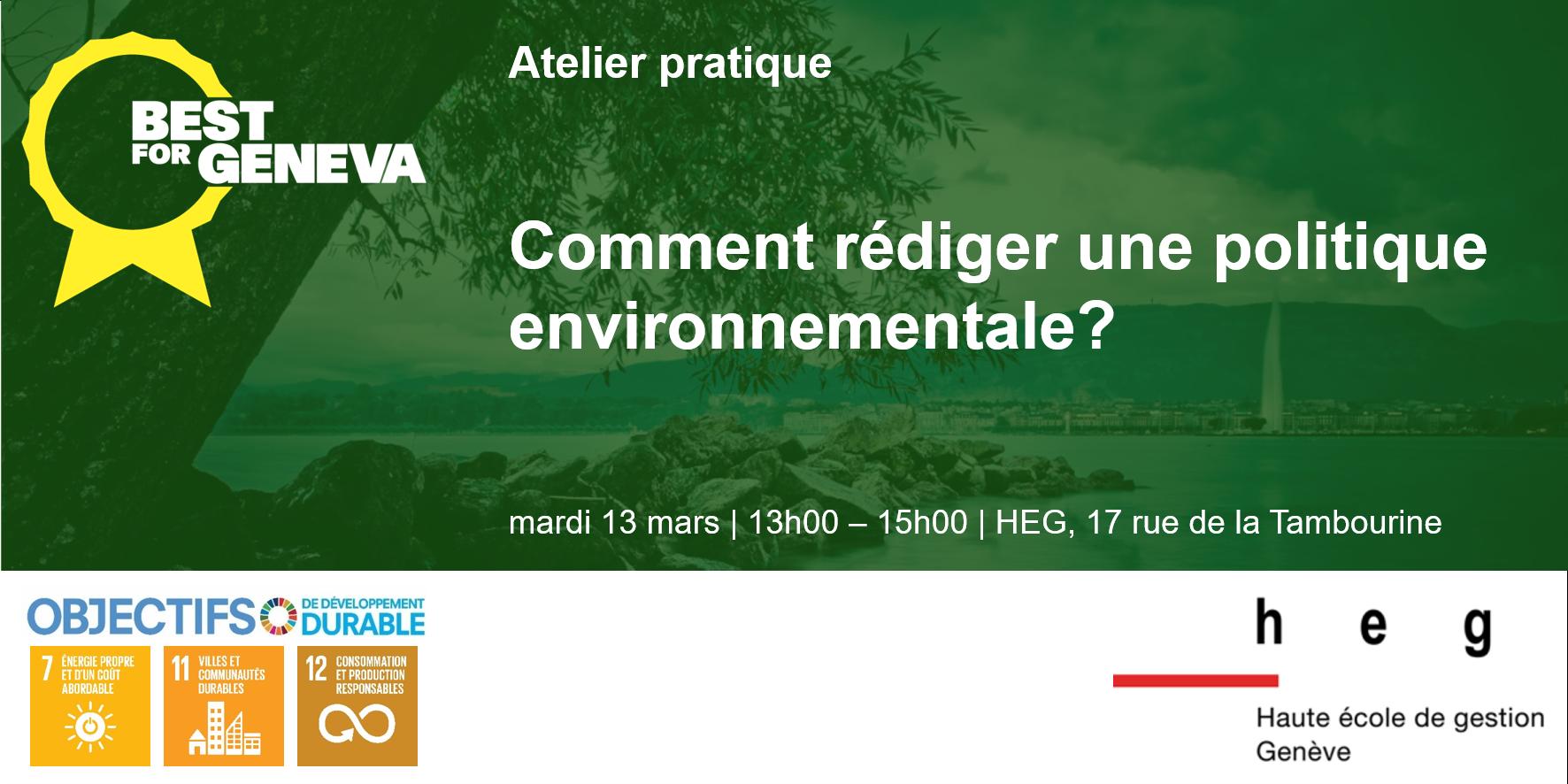 Comment rédiger une politique environnementale pour mon entreprise?