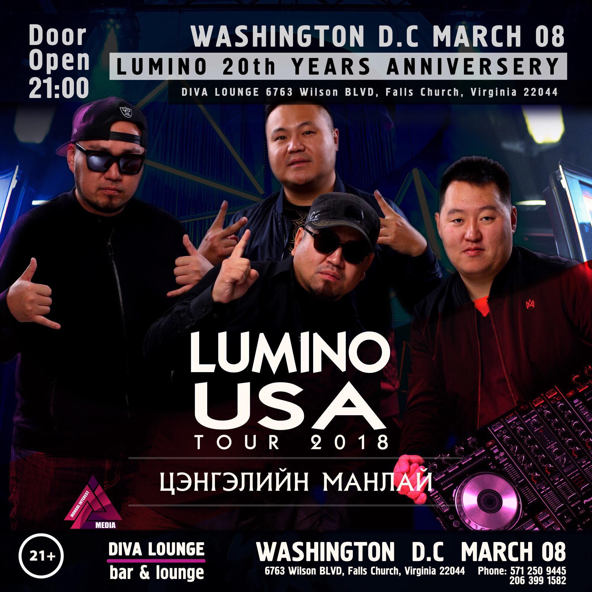 LUMINO 20th years anniversary USA TOUR 2018 S