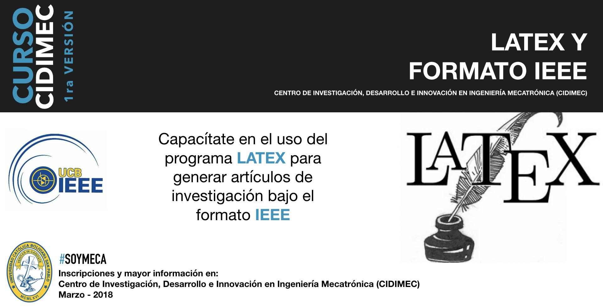 LATEX Y FORMATO IEEE - 4 ABR 2018