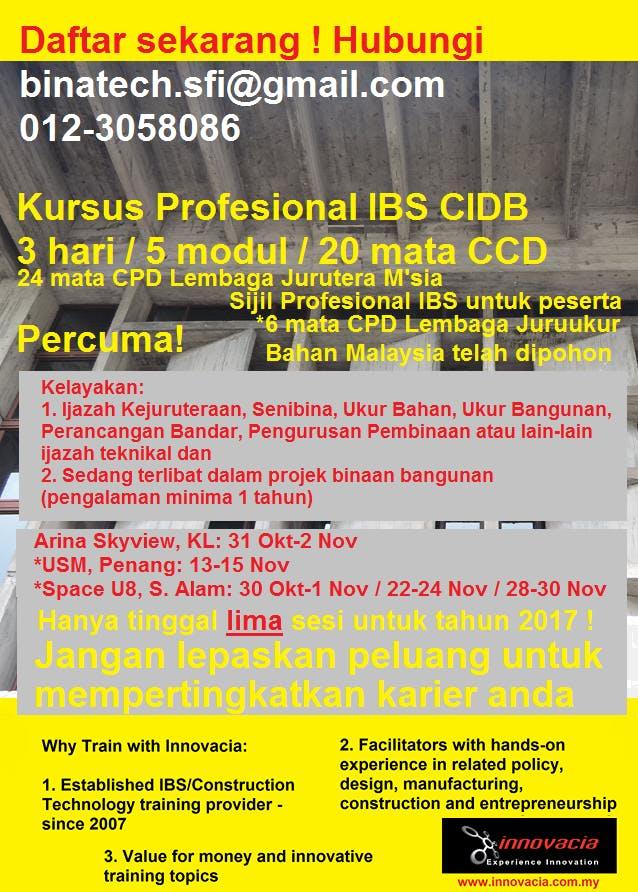Free Cidb Ibs Construction Professional Training Southern Zone 10 12 July 2018 10 Jul 2018