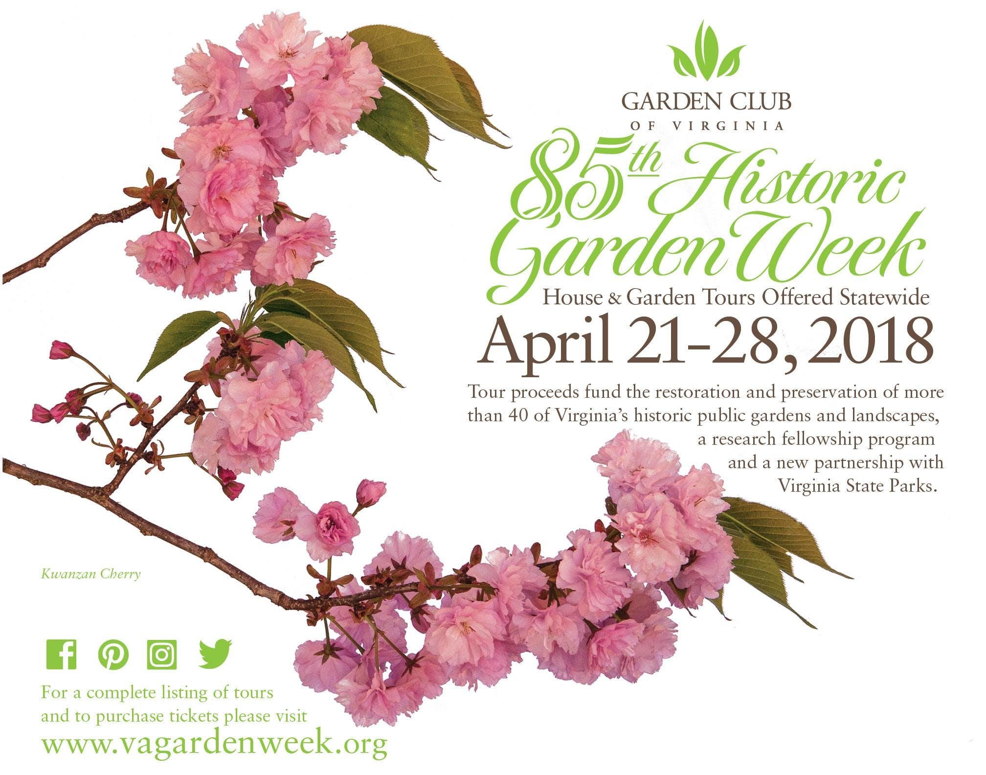 85th Historic Garden Week
