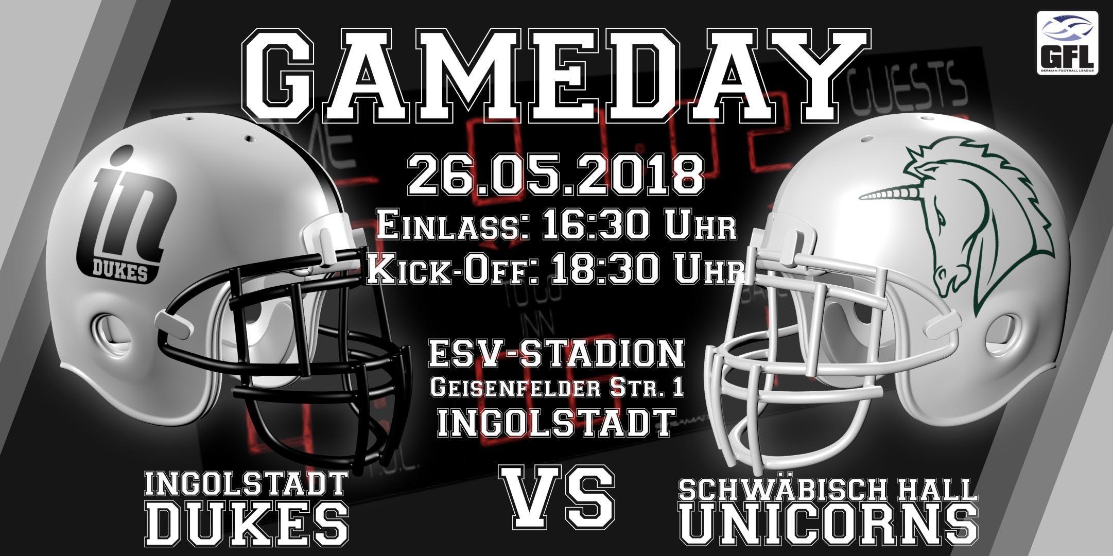 Ingolstadt Dukes vs. Schwäbisch Hall Unicorns