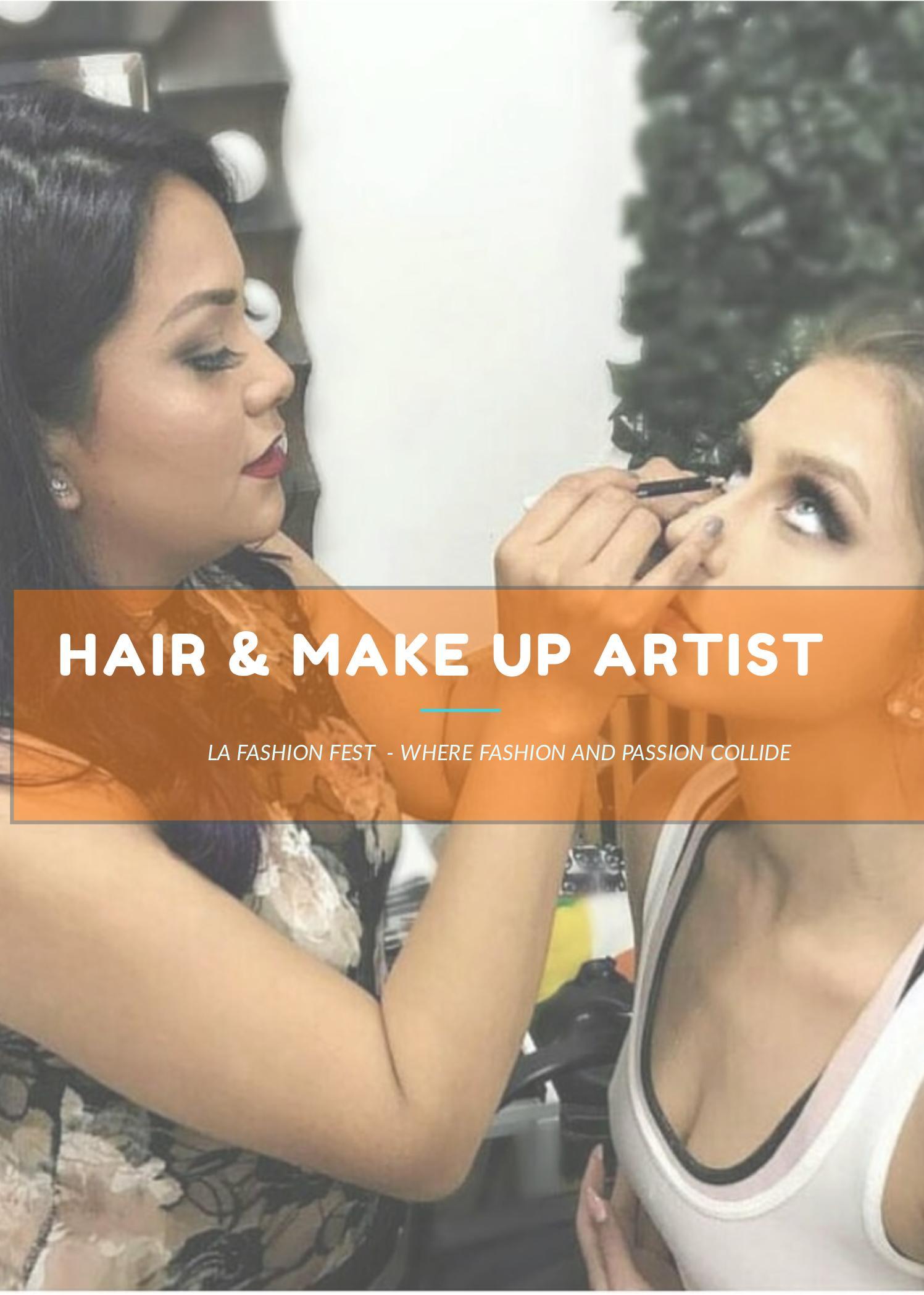 La Fashion Fest hair and make up registrants
