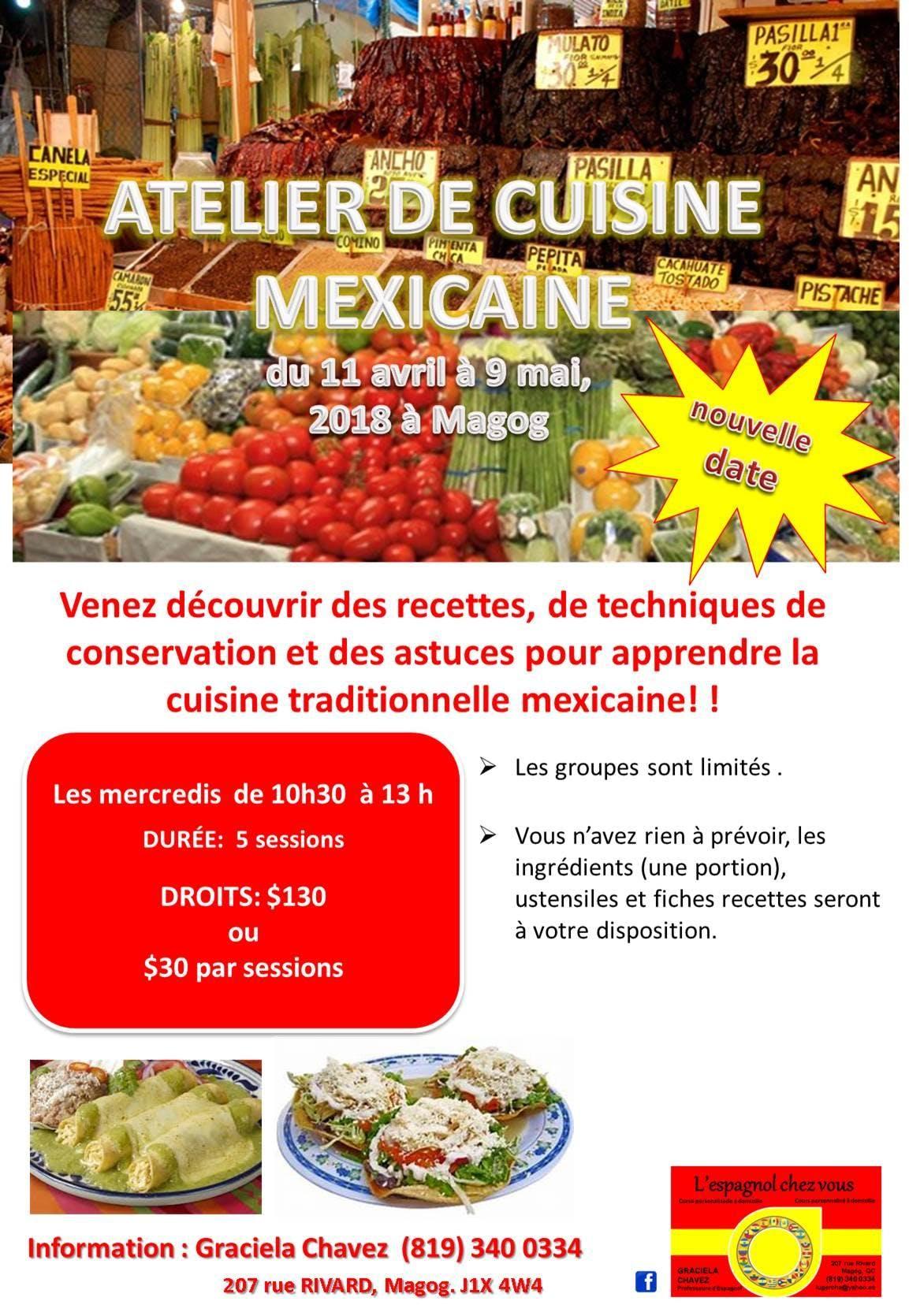ATELIER DE CUISINE MEXICAINE