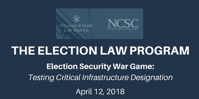 Election Security War Game: Testing Critical Infrastructure Designation