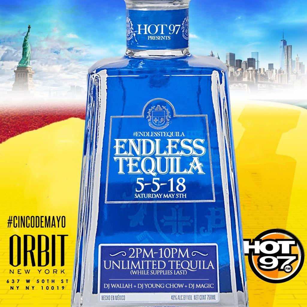 Sat. 05/05: Endless Tequila Day Party at Orbi