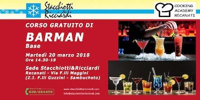 Corso ( workshop) Gratuito di Barman base