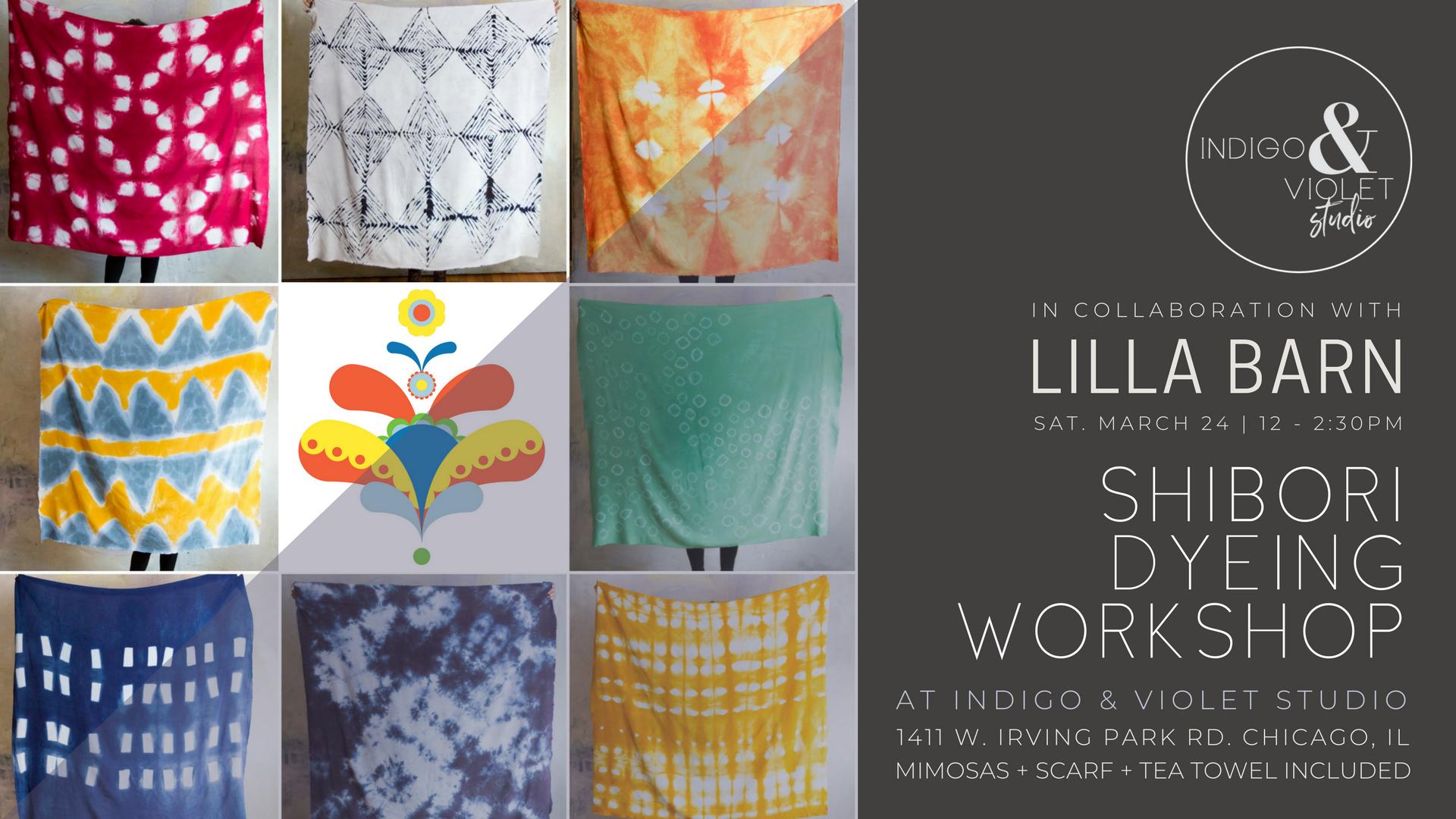 Shibori Scarf Dyeing Workshop