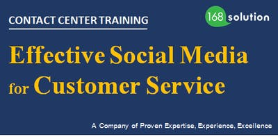[Paid Training] Effective Social Media for Customer Service