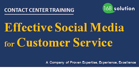 [Paid Training] Effective Social Media for Customer Service tickets