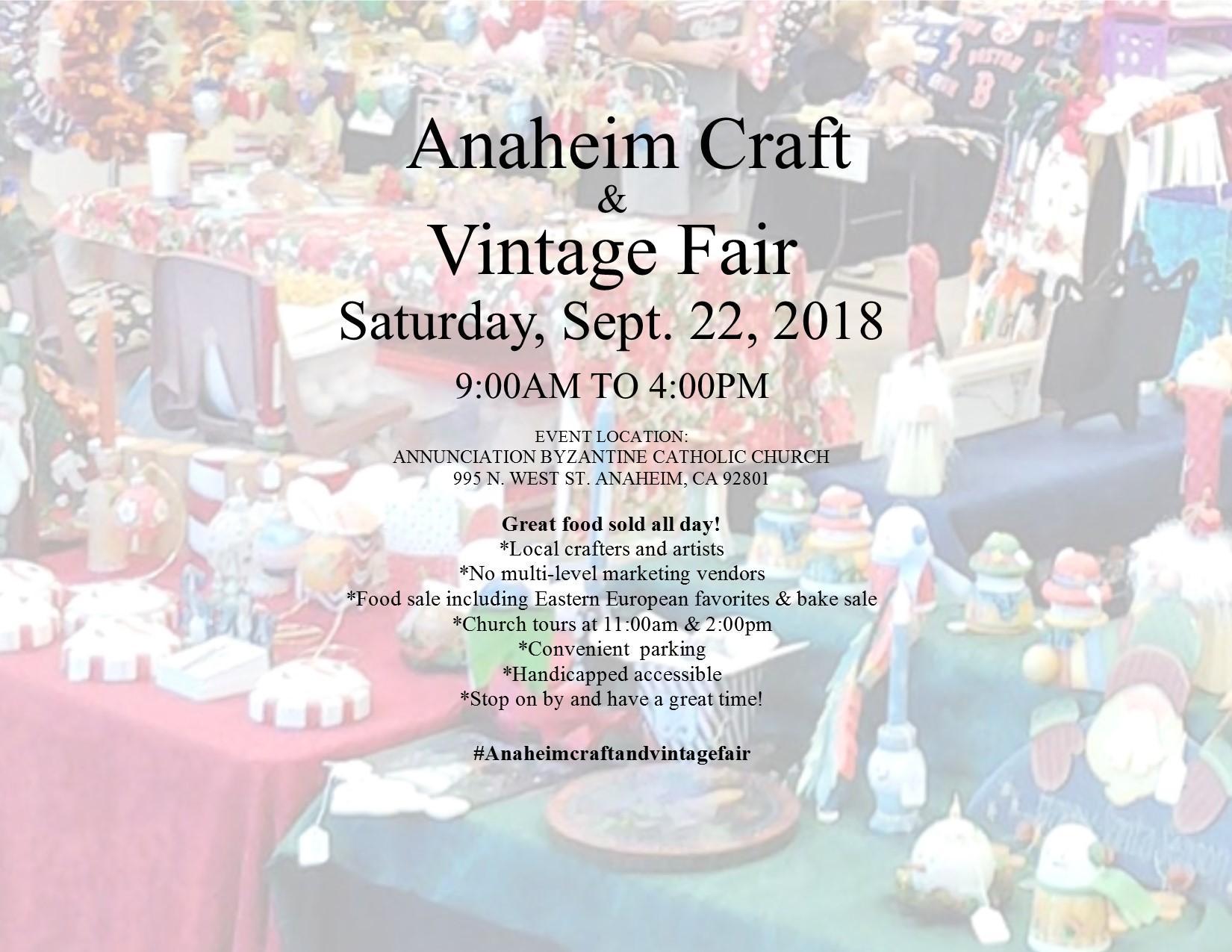 Anaheim Craft & Vintage Fair