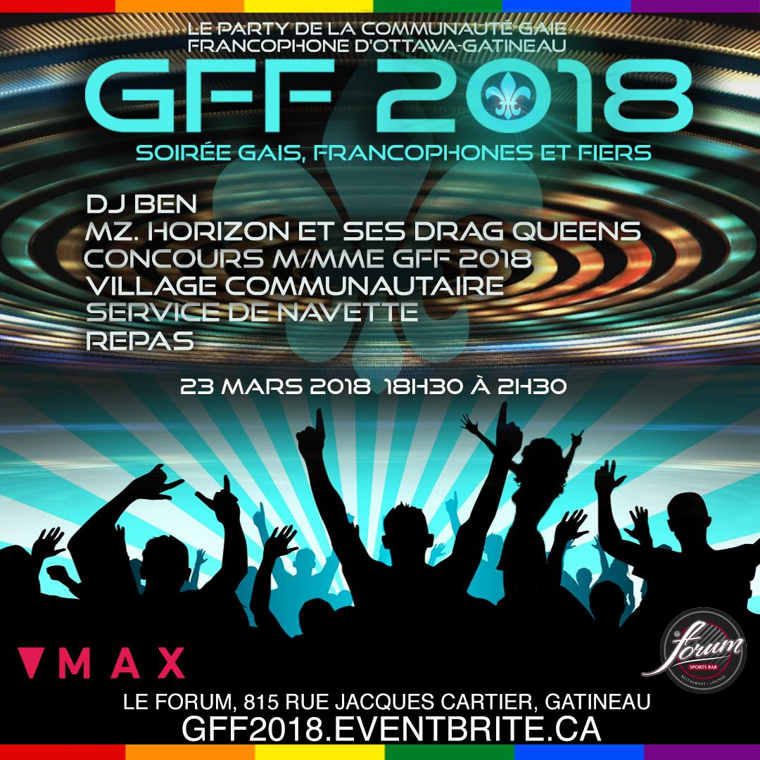 """Soirée """"Gais, Francophones et Fiers"""" (GFF 201"""