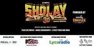 BOLLYWOOD FEVER presents SHOLAY in 3D - 6PM - 17TH...