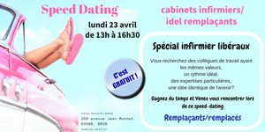 Speed dating cabinets infirmiers/idel remplaçants