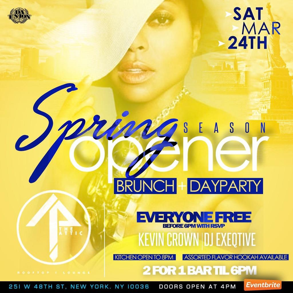 Sat. 03/24: Spring Season Opener Day Party @