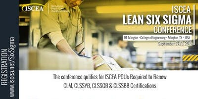 ISCEA - LEAN Six Sigma Conference - September 21-23, 2018
