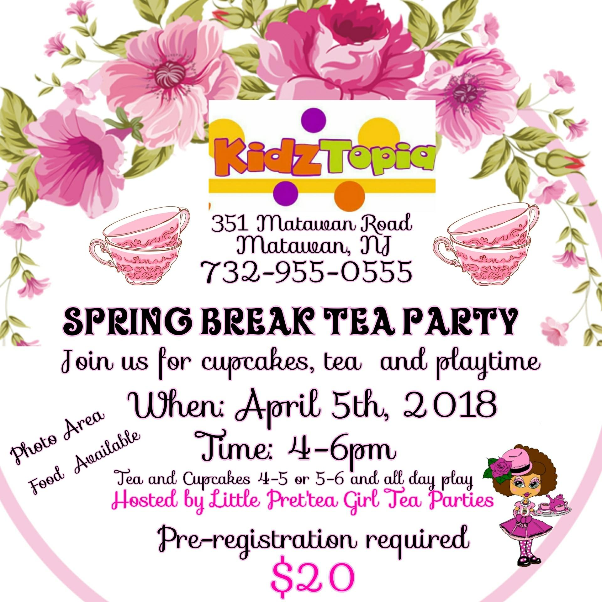 Spring Break Tea Party 5 Apr 2018