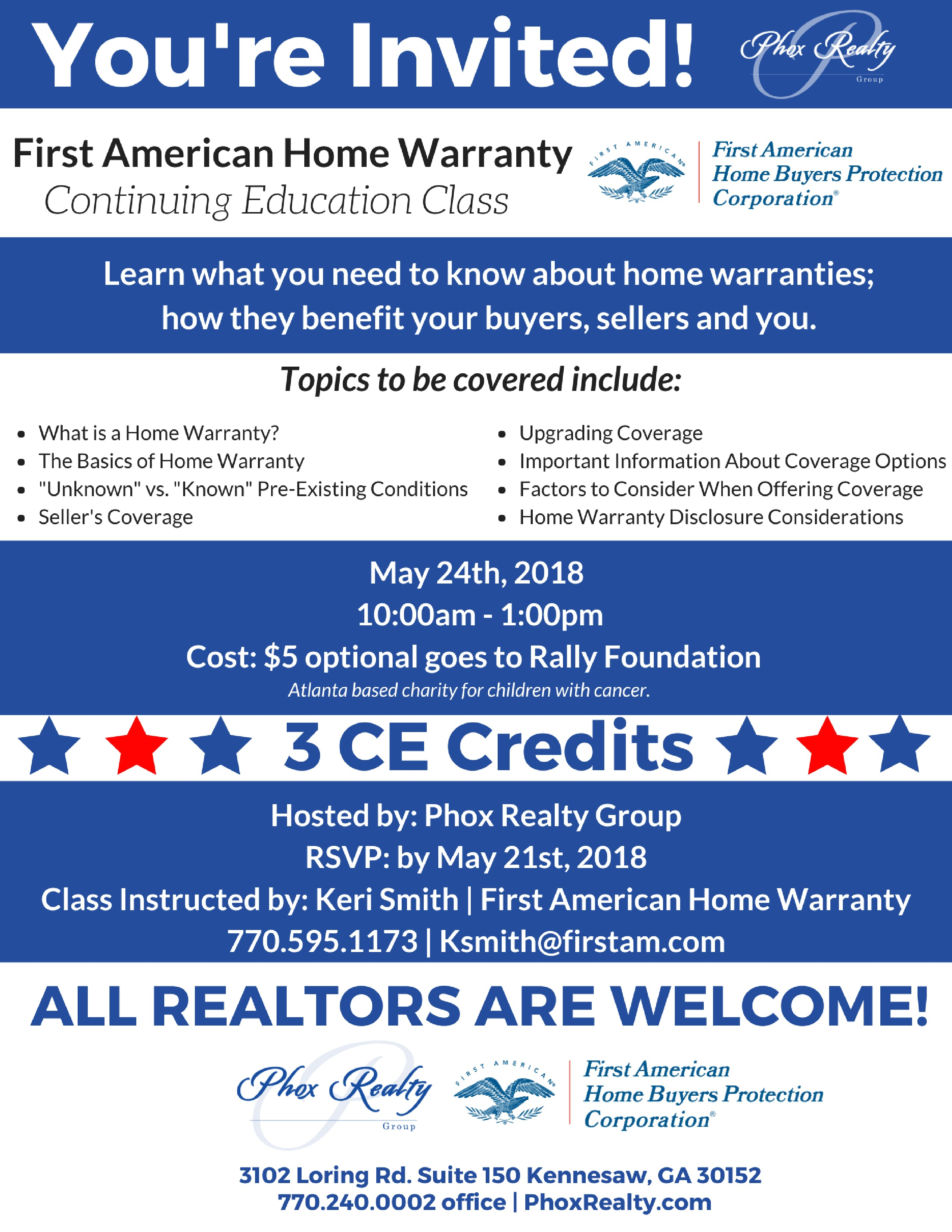 First American Home Warranty Ce Class For All Realtors In Metro