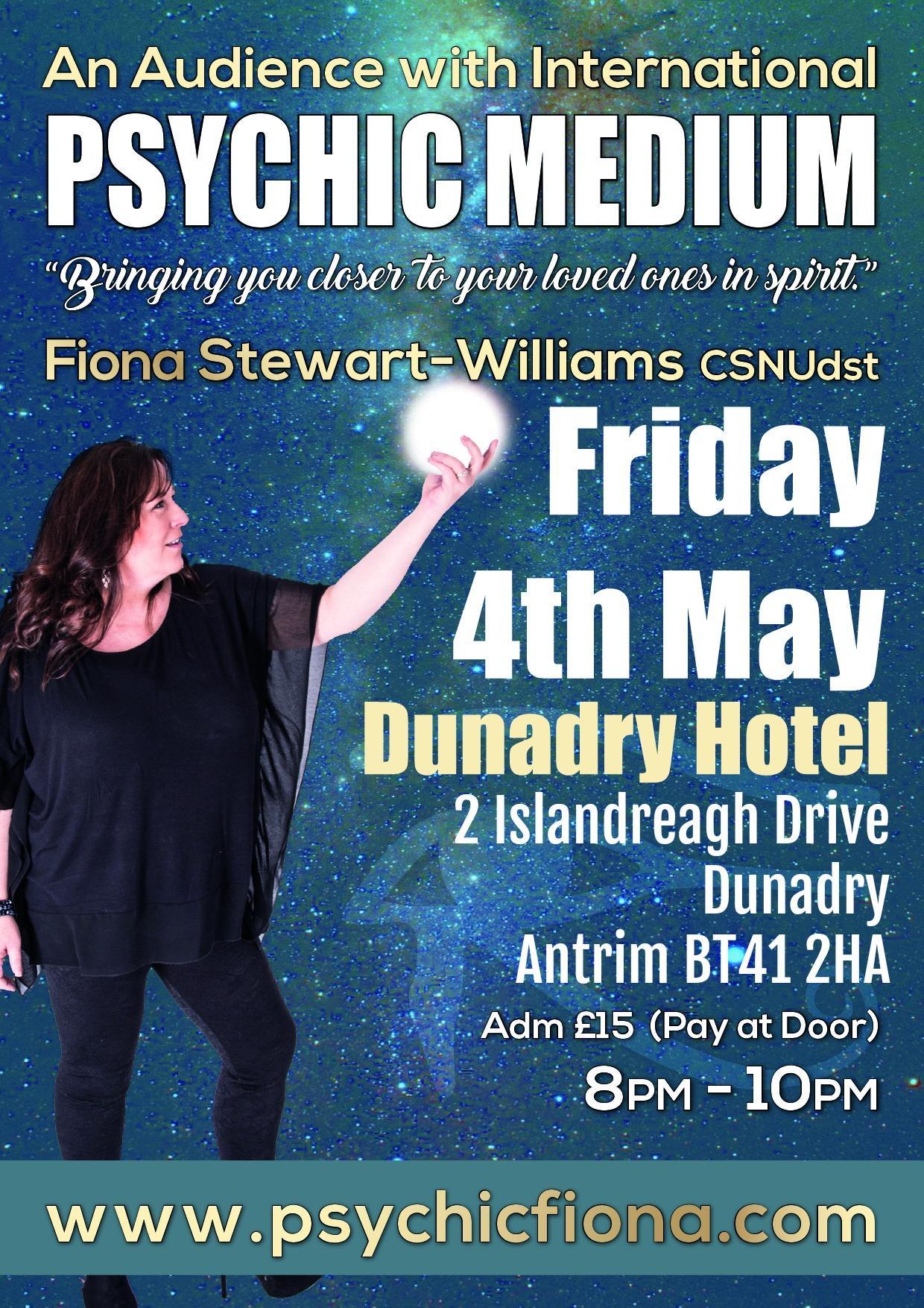 Psychic Night at the Dunadry Hotel Antrim