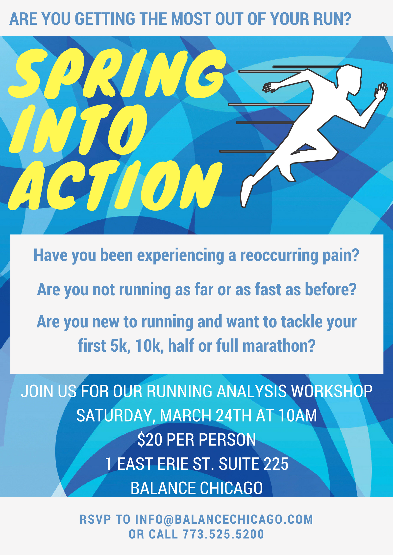 Balance Chicago Running Analysis Workshop