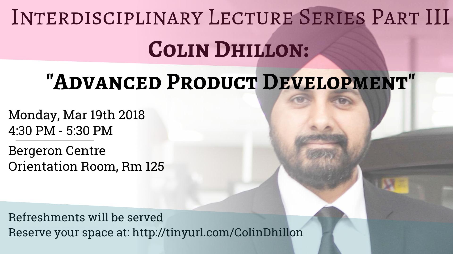 Colin Dhillon - Part 3 of Interdisciplinary L