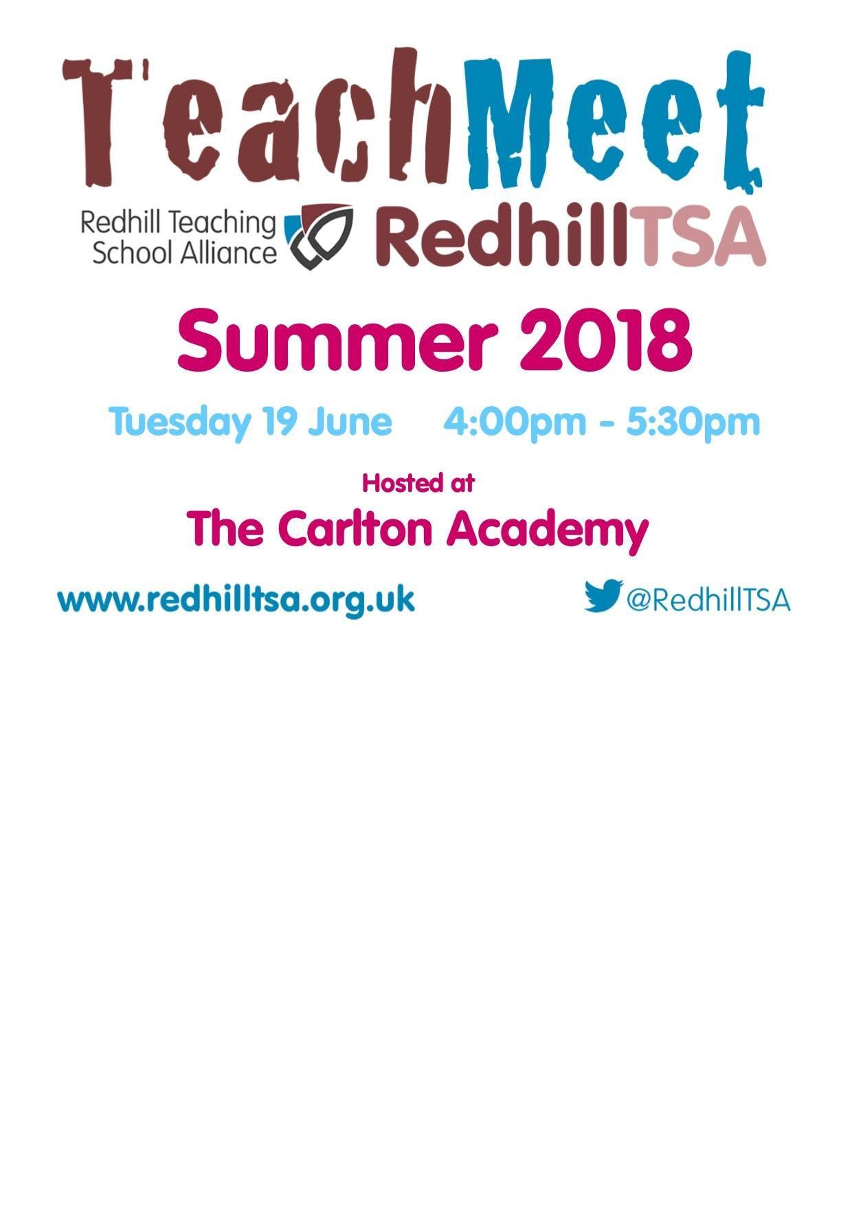 TeachMeet RedhillTSA Summer 2018