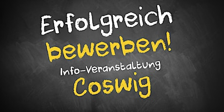 Bewerbungscoaching Infoveranstaltung AVGS Coswig Tickets