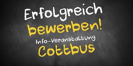Bewerbungscoaching Infoveranstaltung Cottbus Tickets