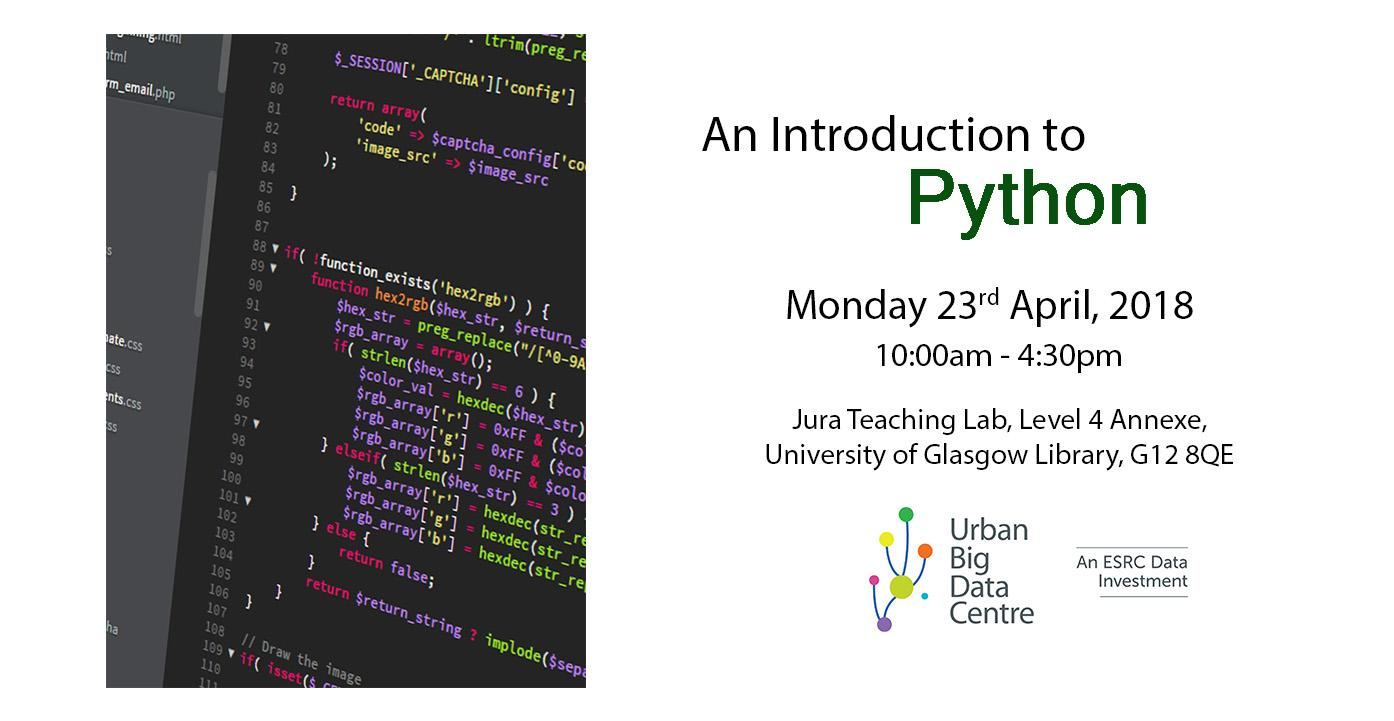 UBDC Training 2018: An Introduction to Python