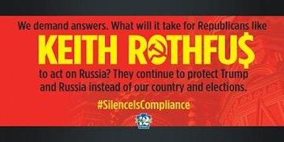 Where's Rothfu$? Wednesdays -- Russian Interference.  #SilenceIsCompliance.