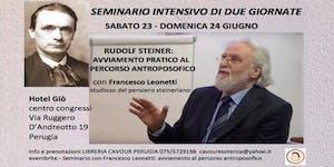 Seminario con Francesco Leonetti: avviamento pratico...