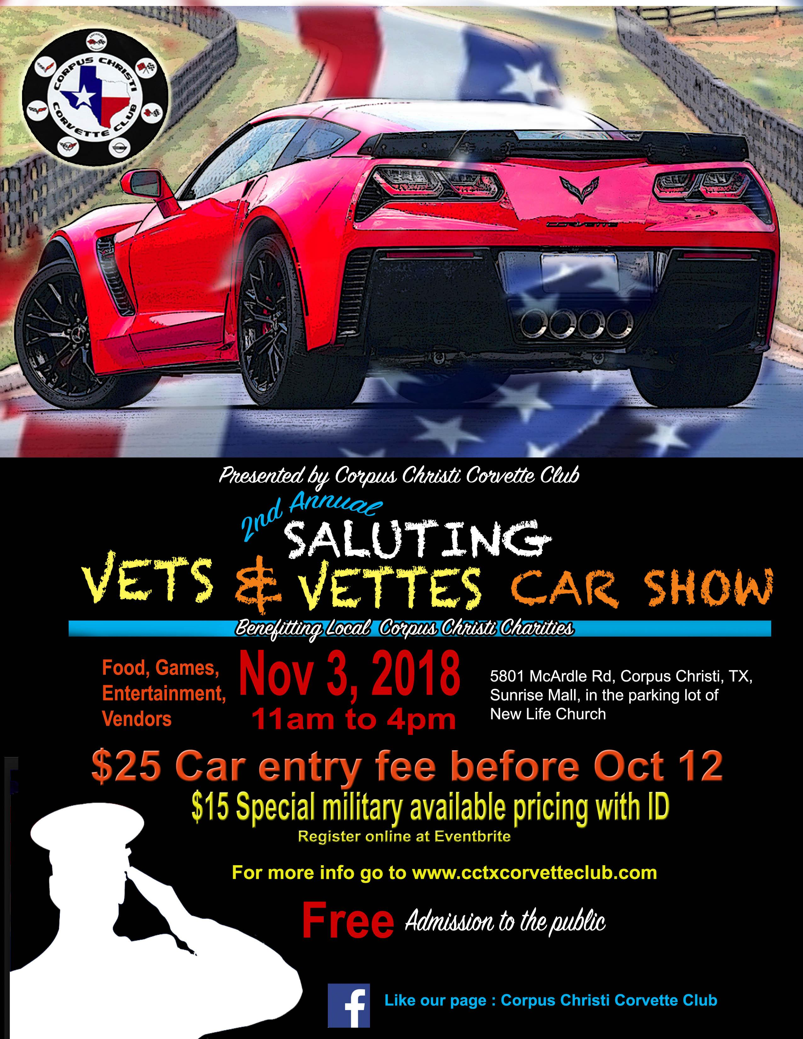 Nd Annual Saluting Vets And Vettes Car Show NOV - Car show games