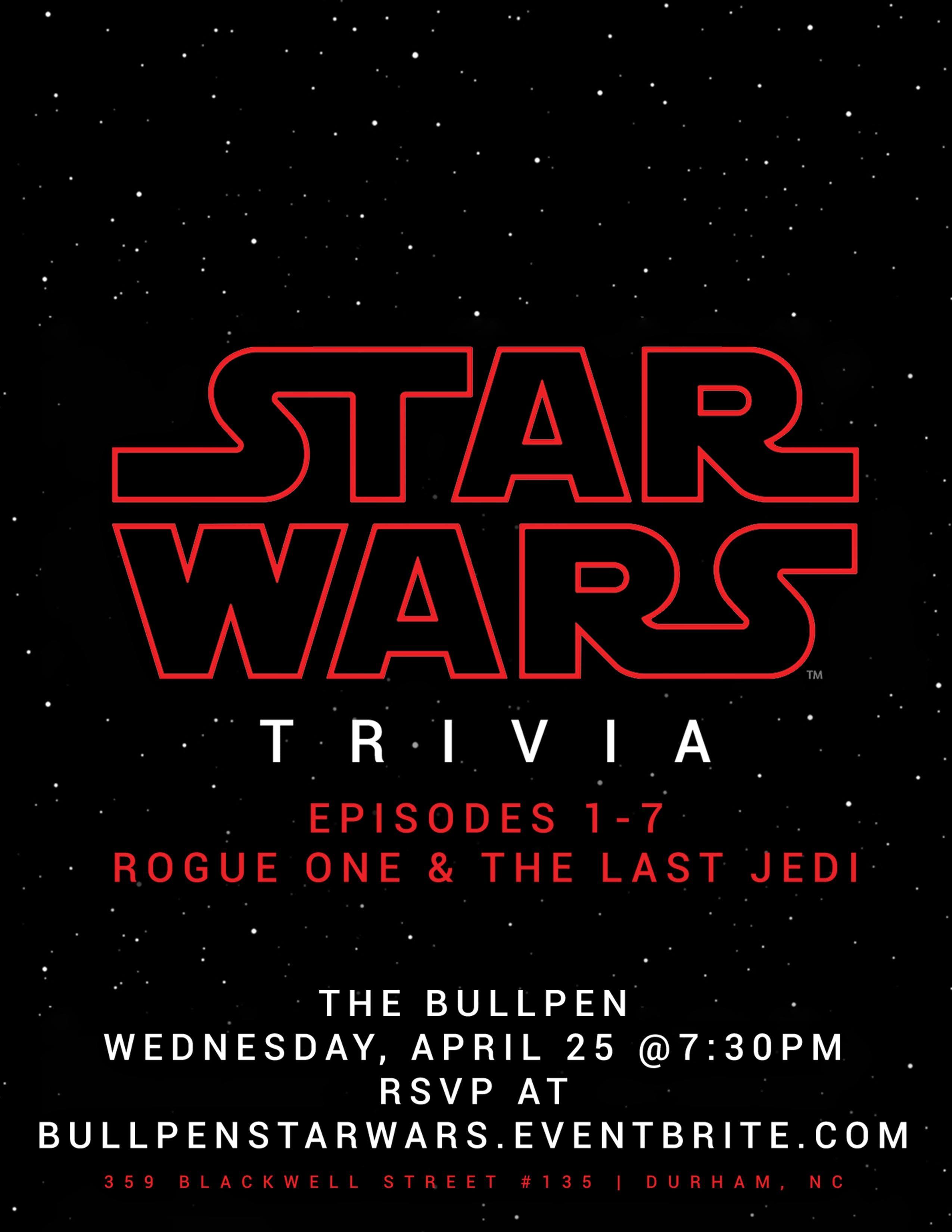 Star Wars Trivia @ The Bullpen
