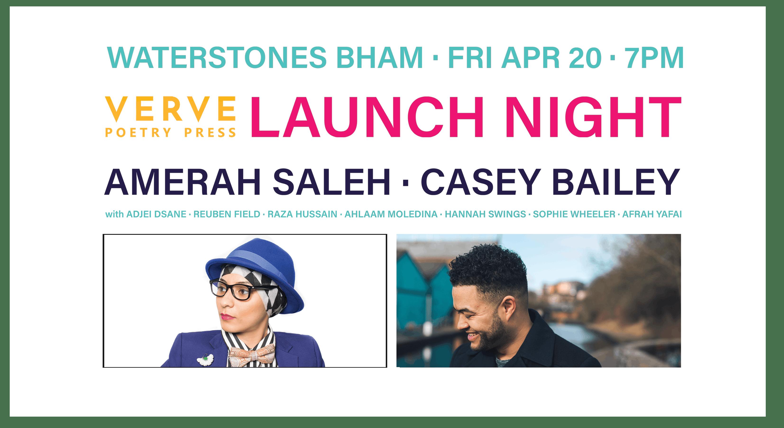 Verve Poetry Press Launch - Amerah Saleh & Ca