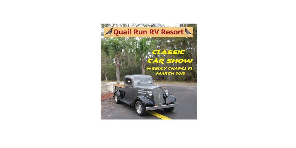 TH Annual Classic Car Show At Quail Run RV Resort Tickets Sat Mar - Classic car show clearwater fl