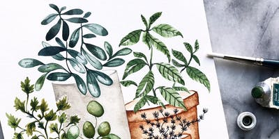 event in Seattle: Watercolor Botanicals Class: TheMintGardener at Shop JOIN