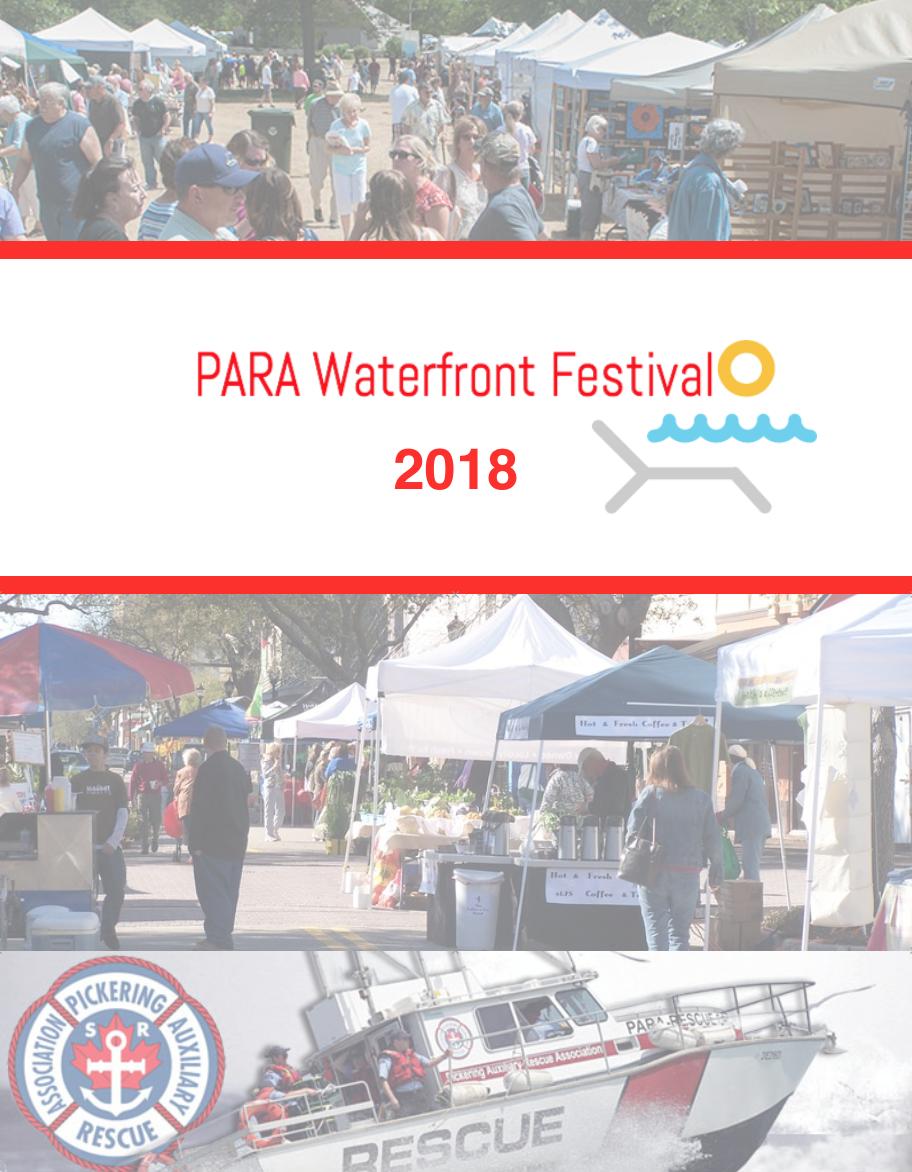 PARA Waterfront Festival 2018 - Vendor Pre-Re