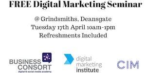 FREE CIM Digital Marketing Seminar Manchester