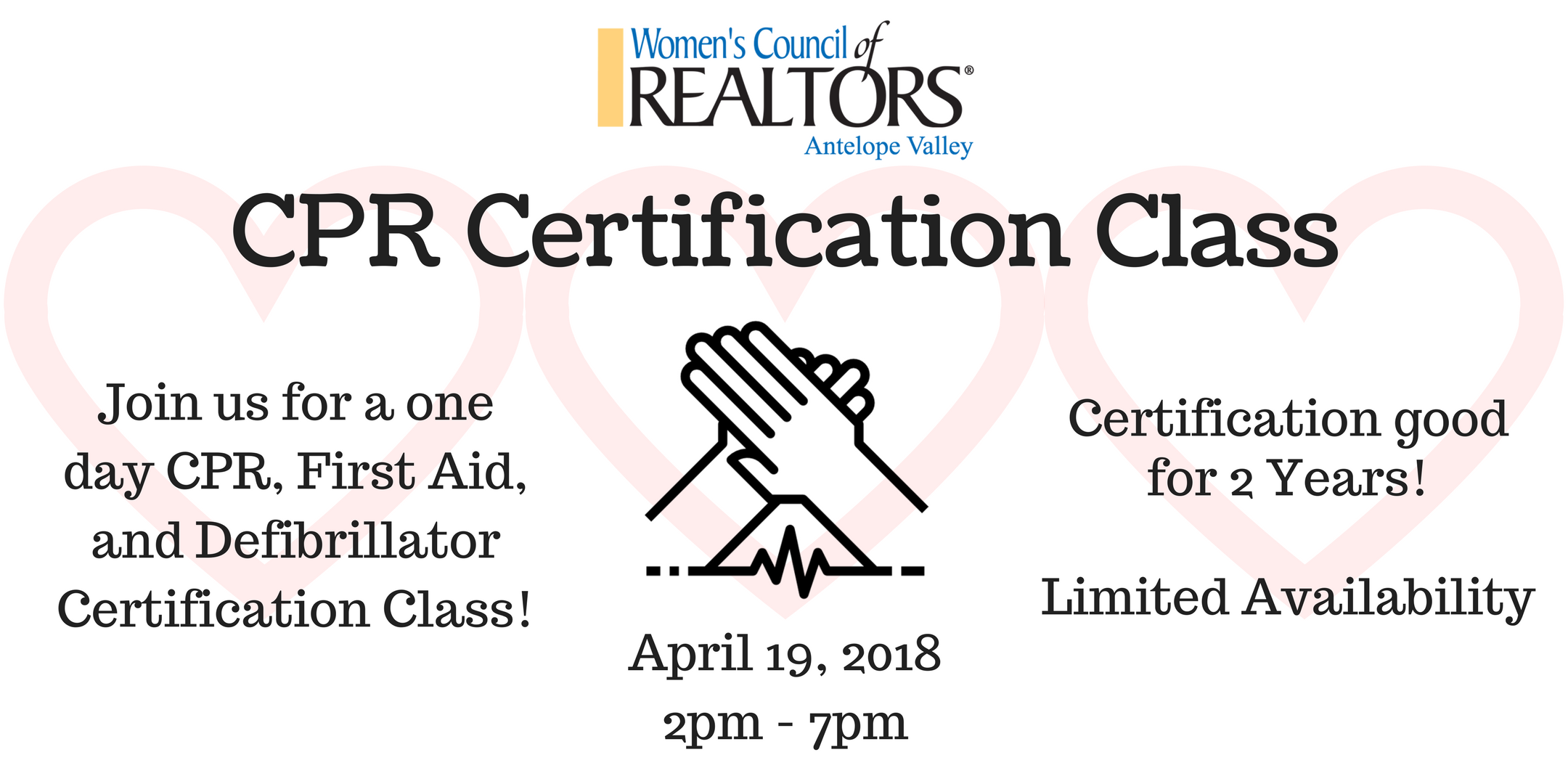 Cpr Certification Class 19 Apr 2018