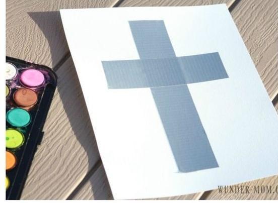 Easter Craft Watercolor Cross Cards 24 Mar 2018