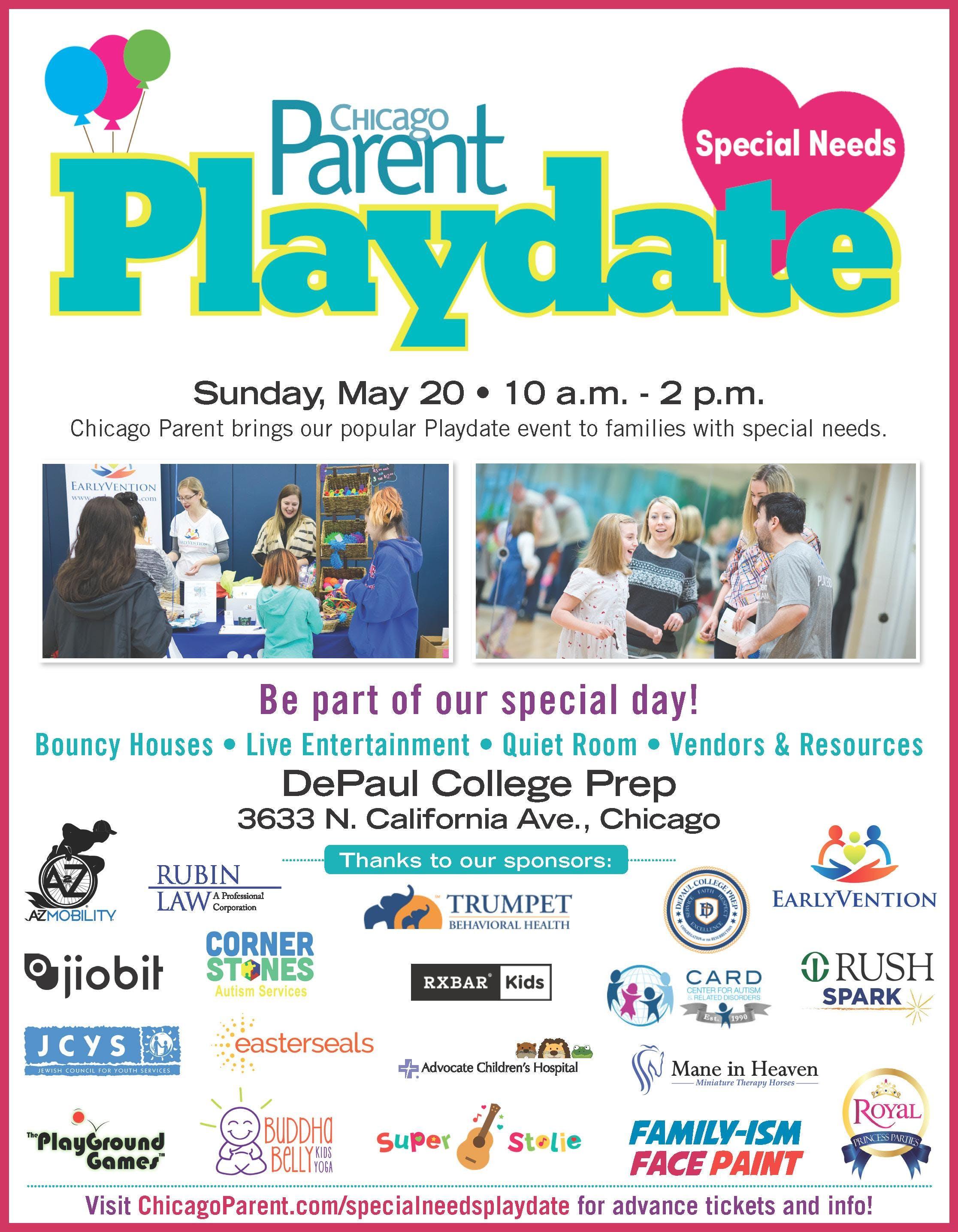 Chicago Parent Special Needs Playdate 2018