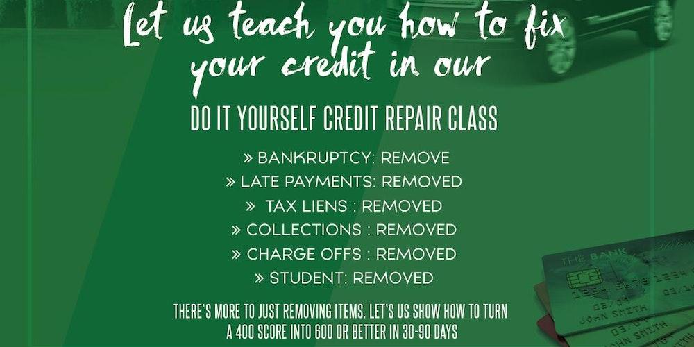 Do it yourself credit repair class tickets sun apr 15 2018 at 3 do it yourself credit repair class tickets sun apr 15 2018 at 330 pm eventbrite solutioingenieria Image collections