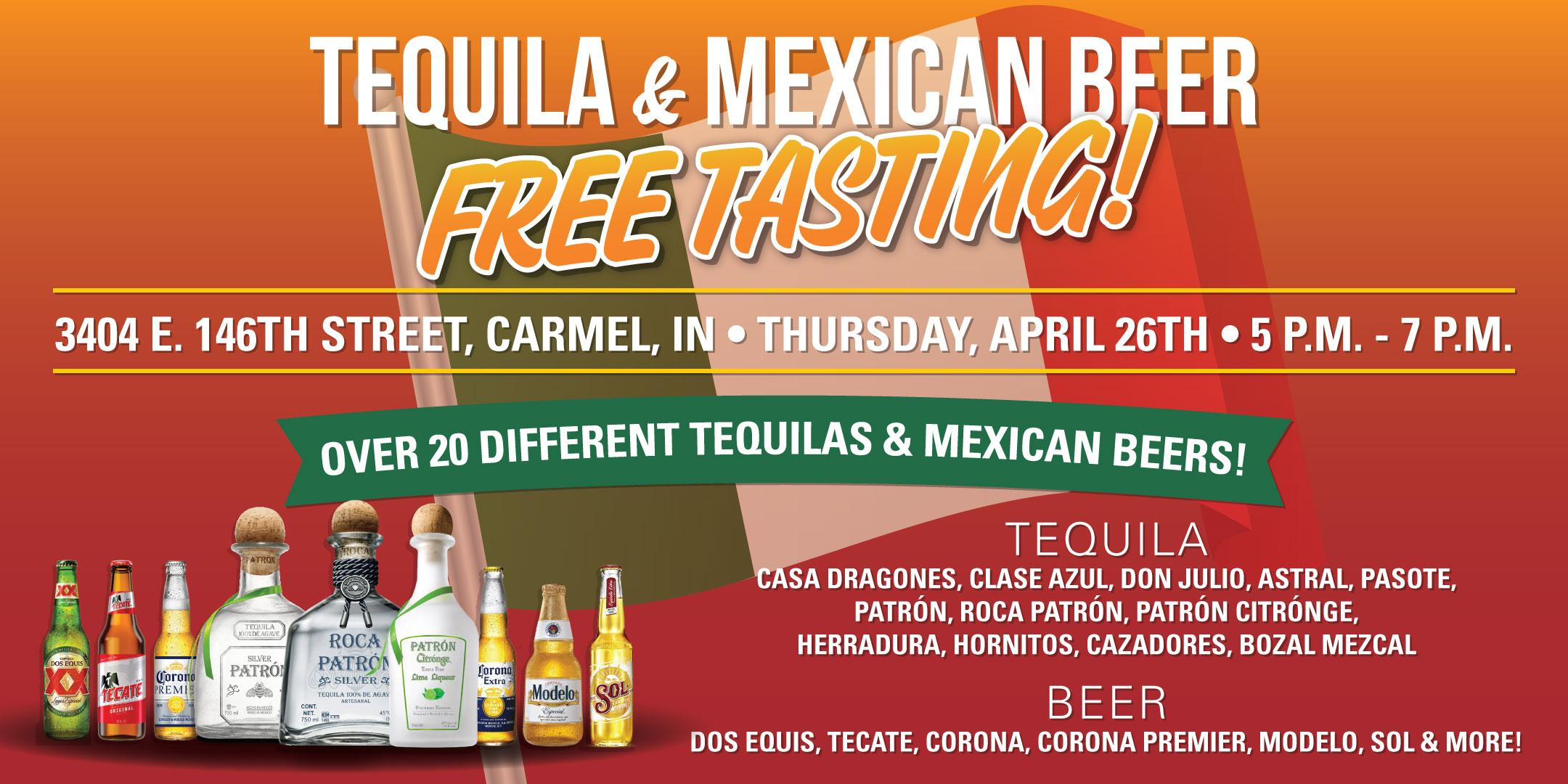 Tequila & Mexican Beer FREE Tasting