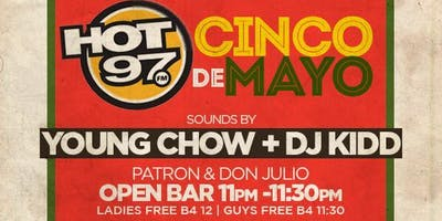 event in New York City: TD Group Presents: Hot 97 Cinco De Mayo + Tequila Open Bar @ Hudson Terrace