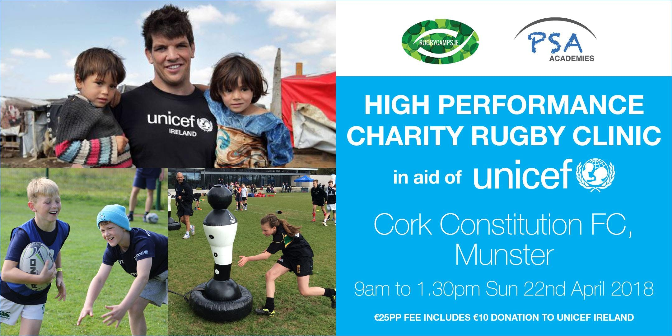High Performance Charity Rugby Clinic (Cork), in aid of UNICEF Ireland