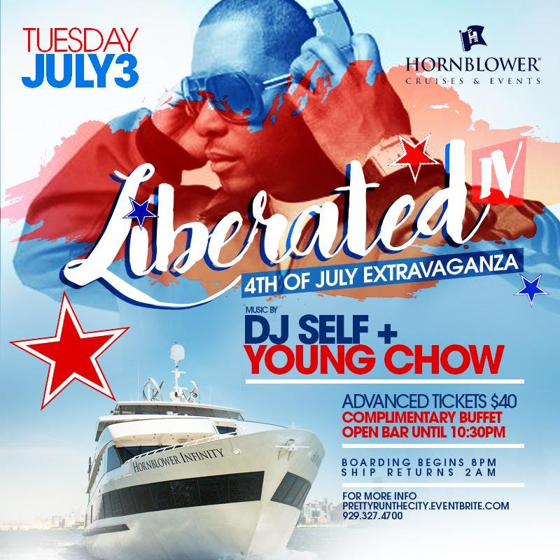 Dj selfs of love n hip hop  july4th weekend yacht party