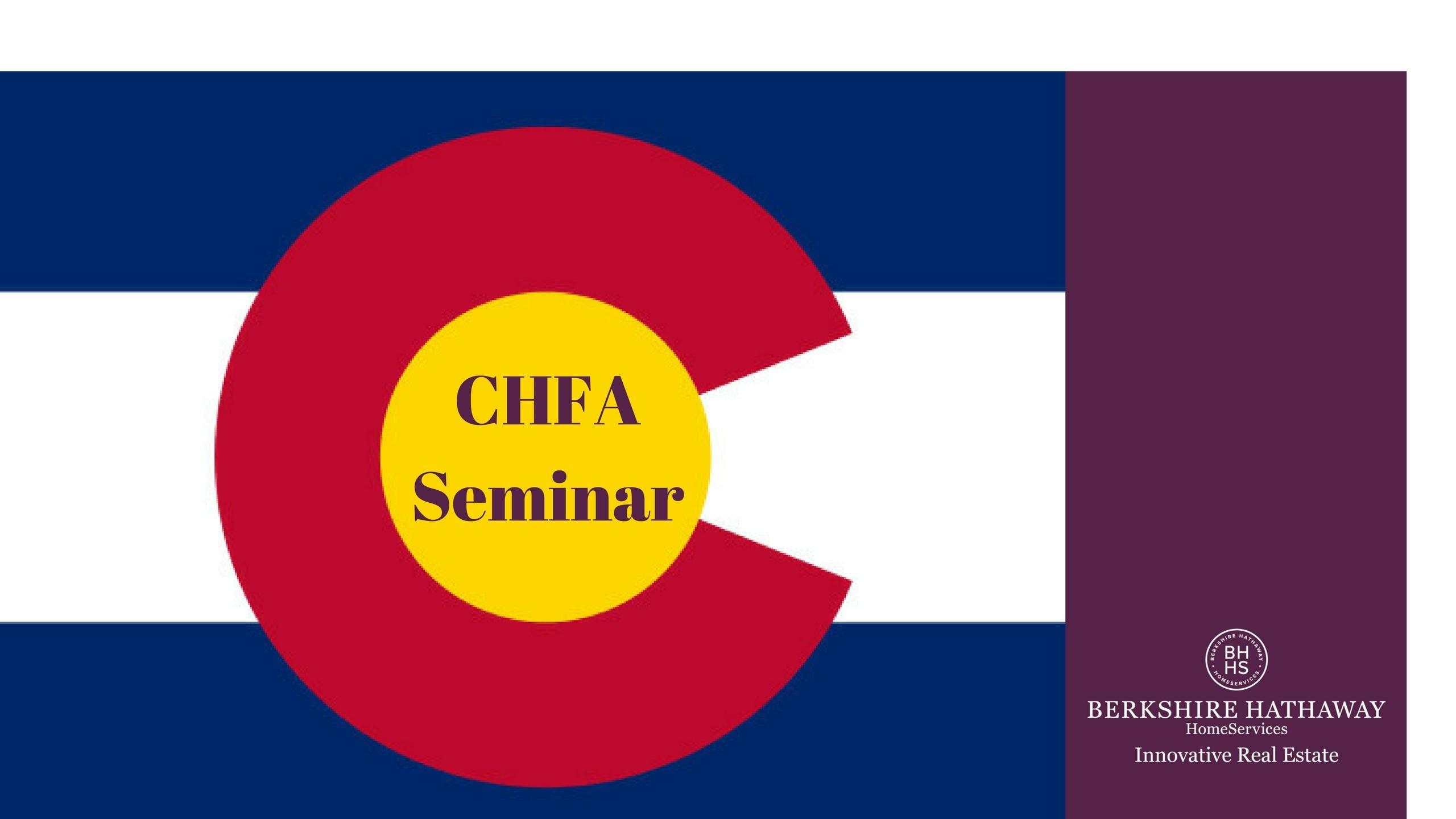 CHFA Loan Programs & Guidelines Seminar
