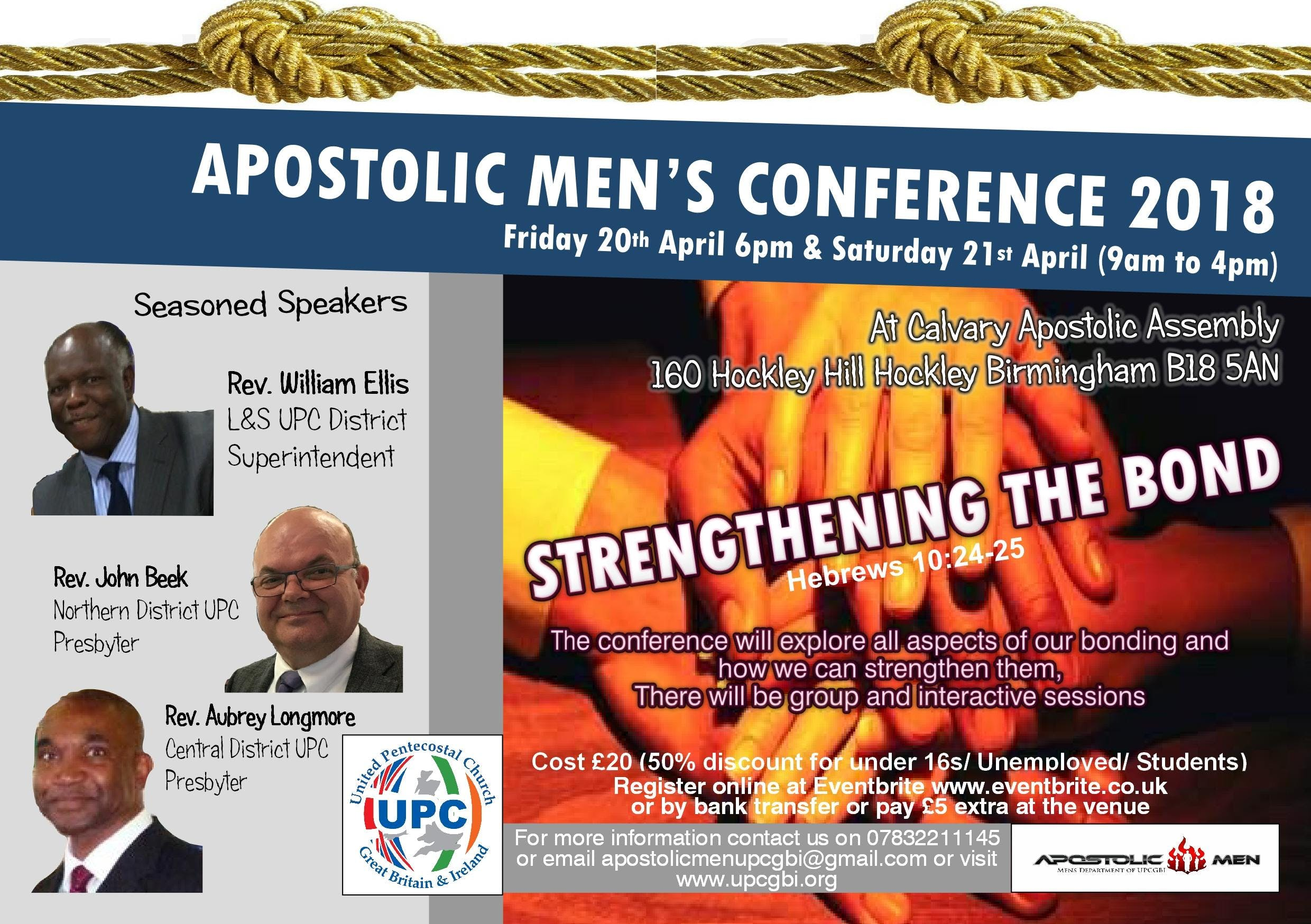 APOSTOLIC MEN'S CONFERENCE 2018 - STRENGTHENI