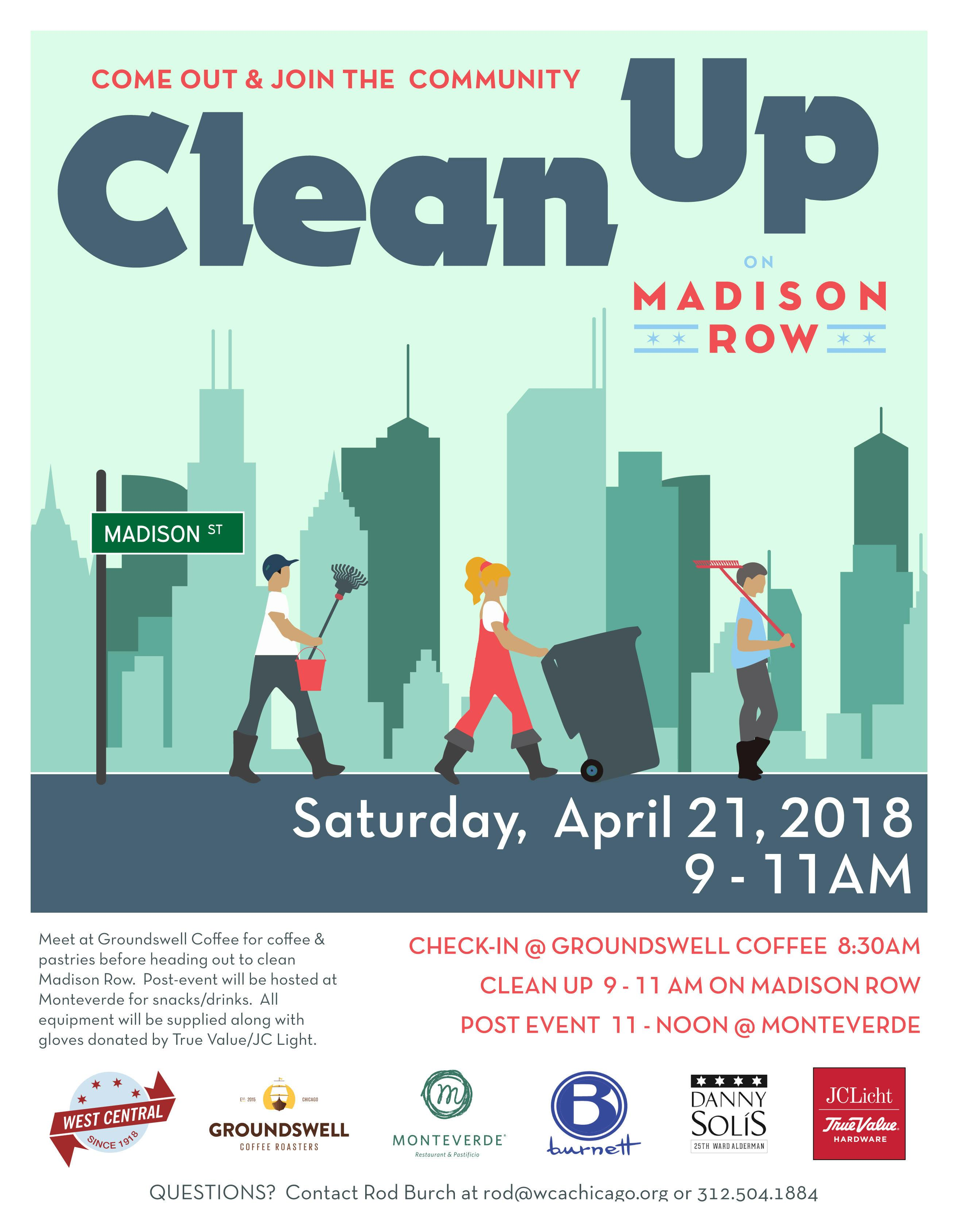 Clean UP on Madison Row